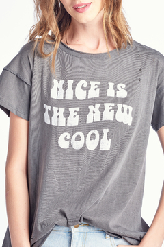 Knit Riot Nice is Cool Back Seam Tee - Product List Image