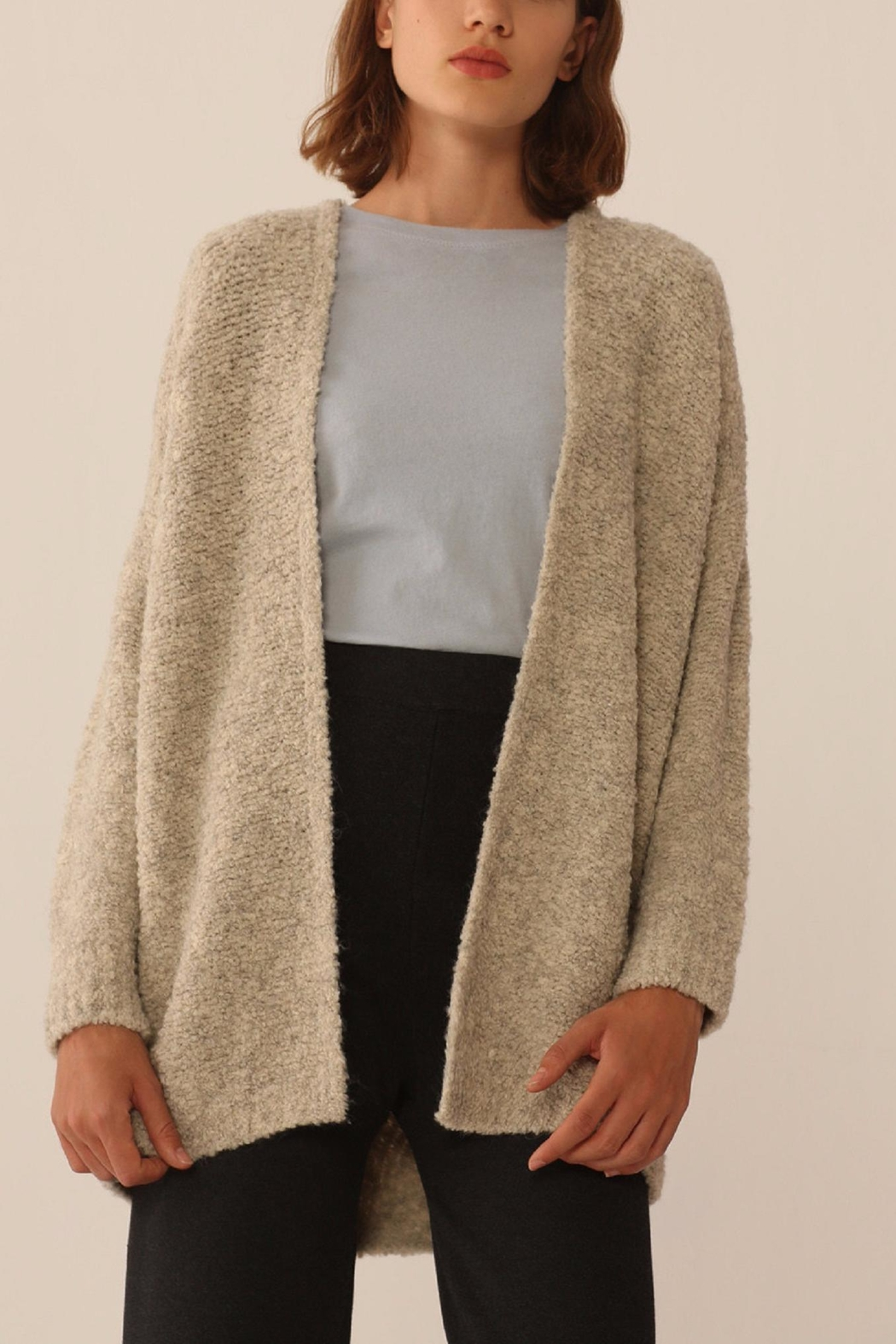 Nice Things Paloma S Cozy Open Jacket - Front Cropped Image