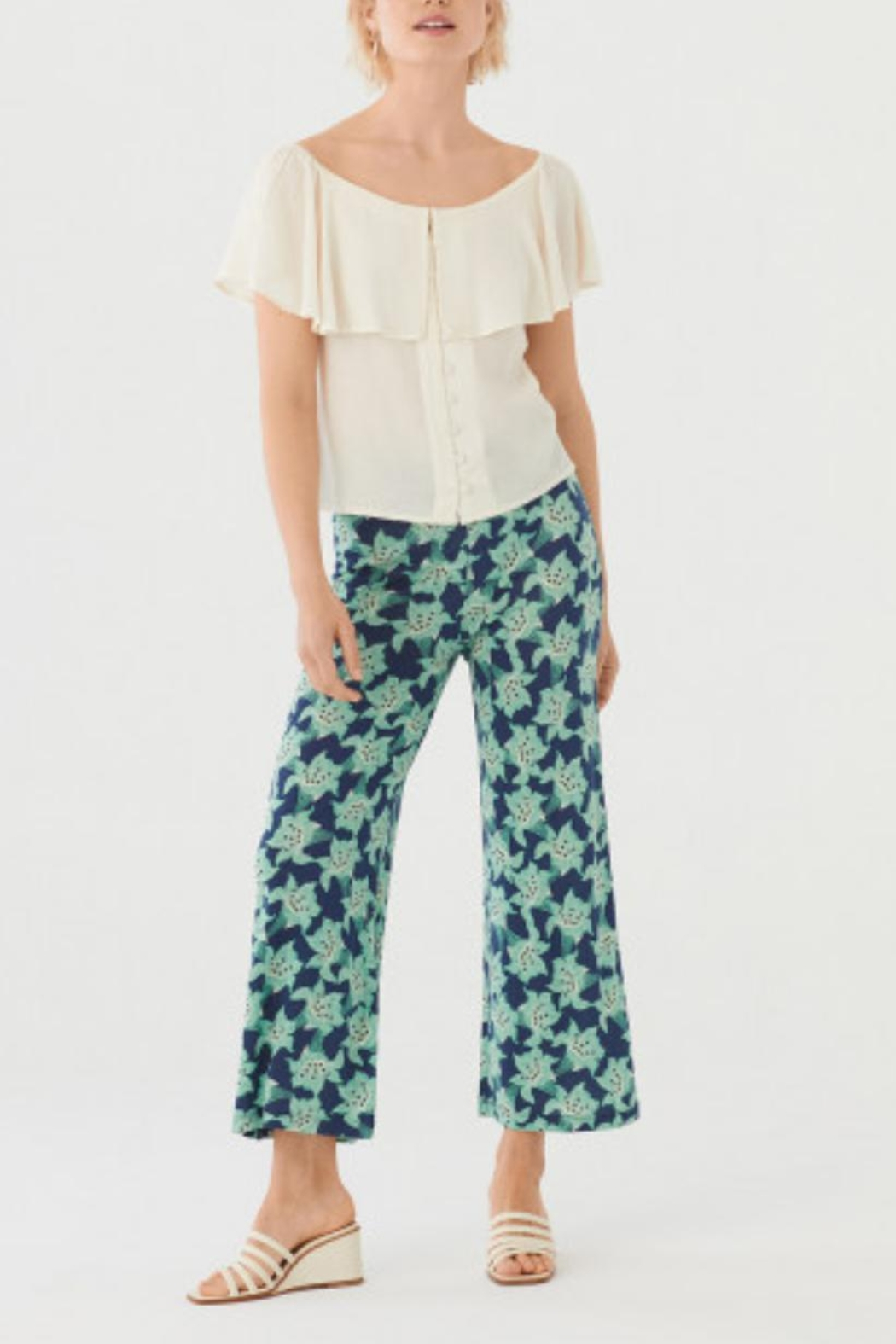 Nice Things Paloma S Floral Lilly Pant - Back Cropped Image