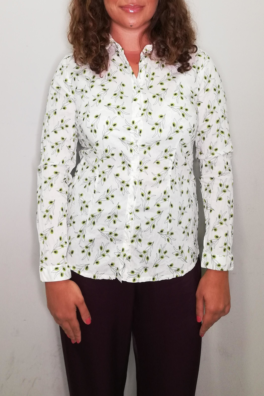 Nice Things Paloma S Olive Twig Blouse - Front Cropped Image