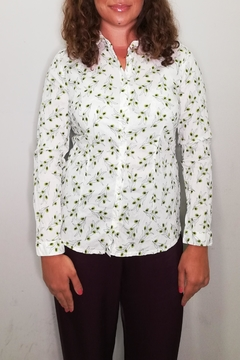 Nice Things Paloma S Olive Twig Blouse - Product List Image