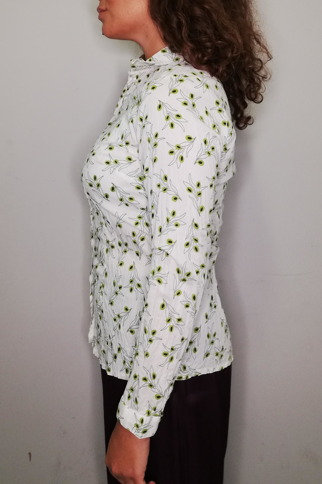 Nice Things Paloma S Olive Twig Blouse - Front Full Image