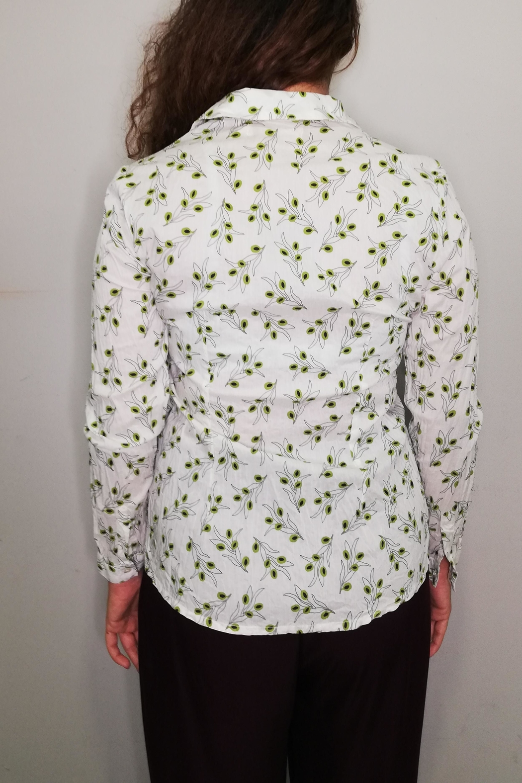 Nice Things Paloma S Olive Twig Blouse - Side Cropped Image