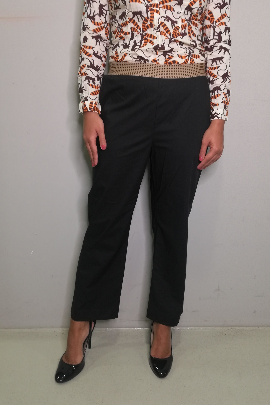 Nice Things Paloma S Poplin Pant - Front Cropped Image