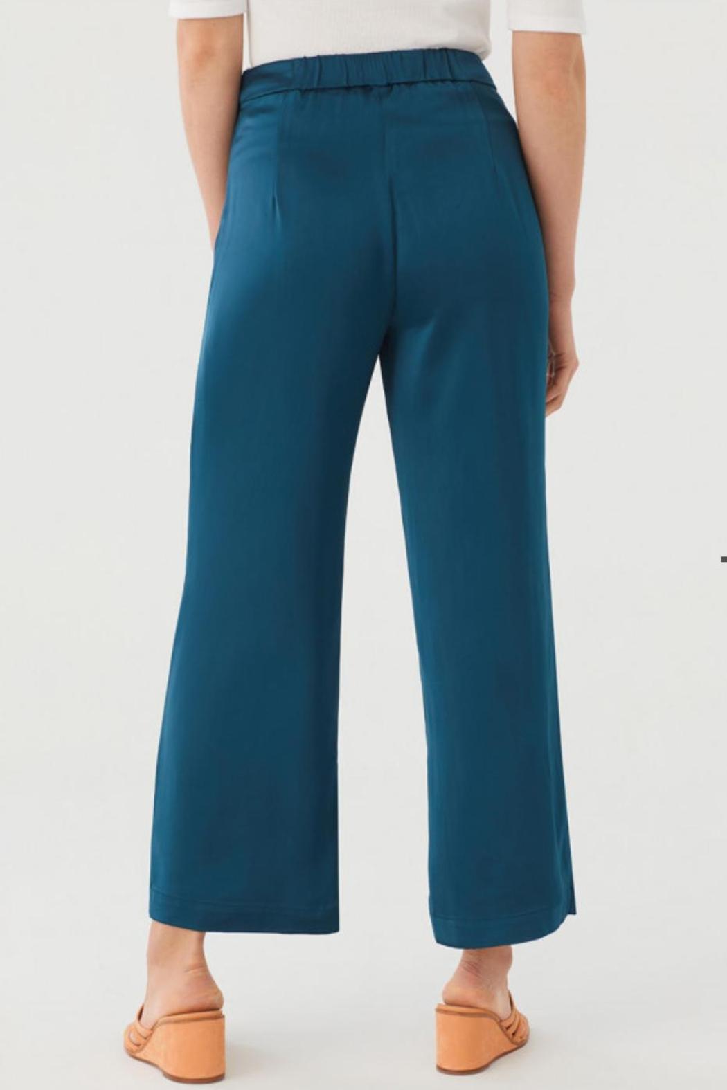 Nice Things Paloma S Satin Trousers - Side Cropped Image