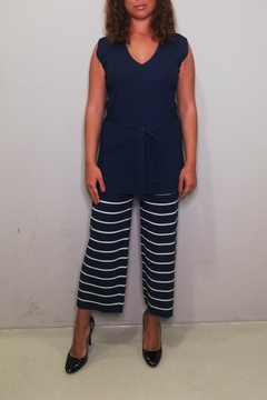 Nice Things Paloma S Striped Rib Pants - Alternate List Image