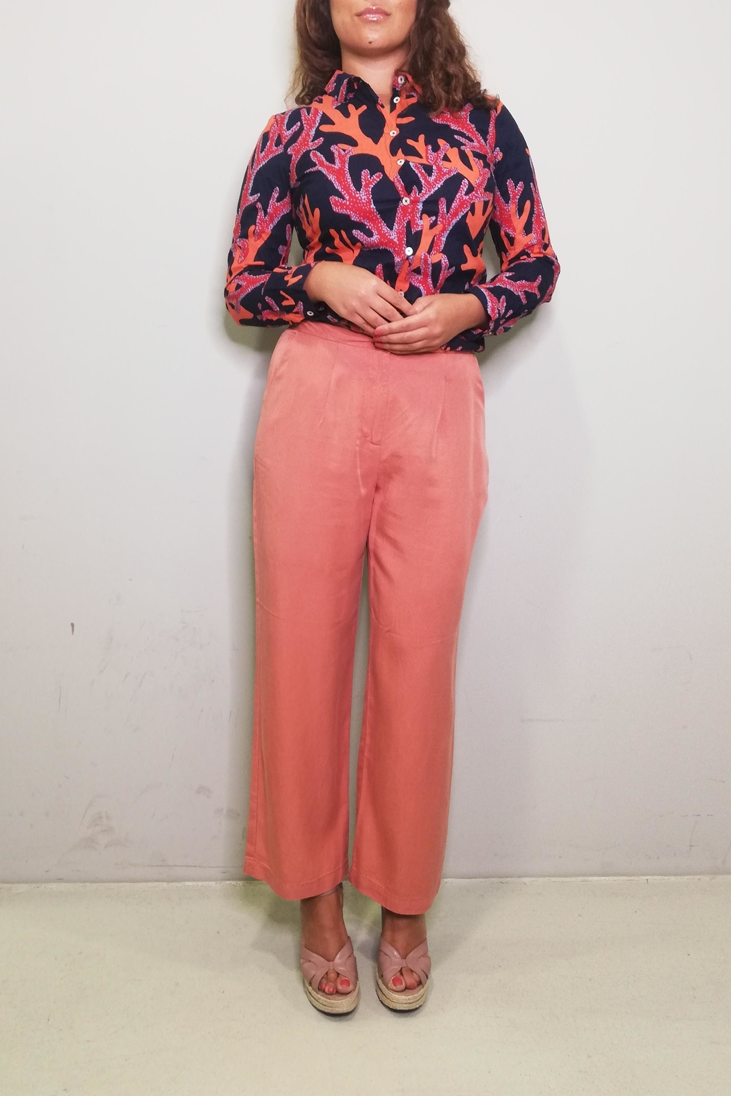 Nice Things Paloma S Tencel Wide Pant - Front Full Image