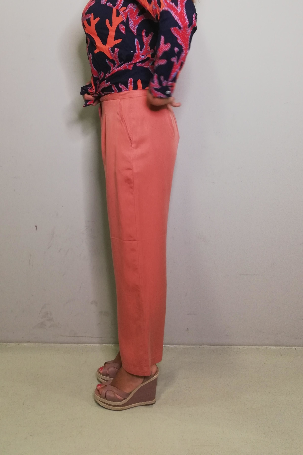 Nice Things Paloma S Tencel Wide Pant - Back Cropped Image
