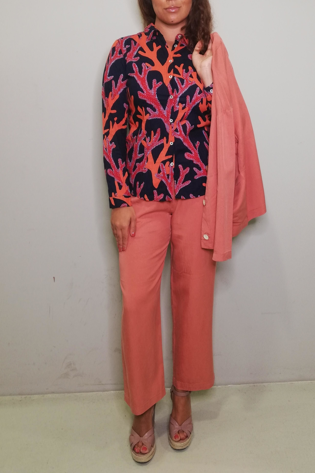 Nice Things Paloma S Tencel Wide Pant - Side Cropped Image