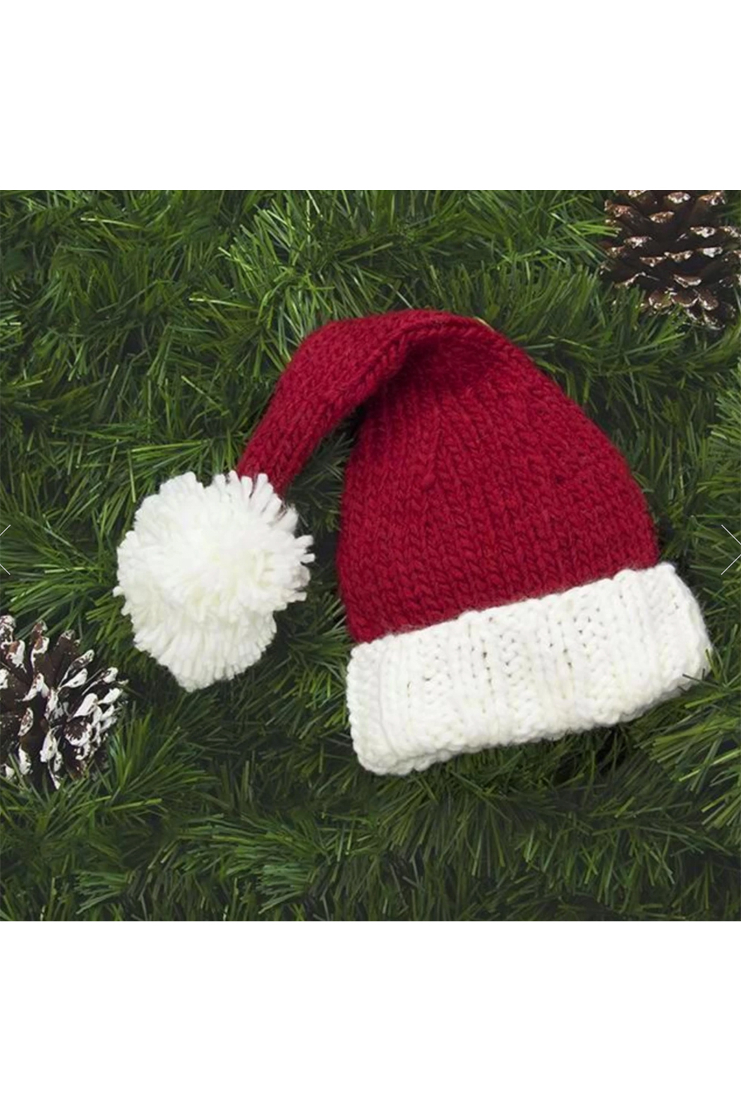 The Blueberry Hill Nicholas Santa Knit Hat - Side Cropped Image