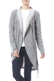 Nick & Mo Grey Lace Cardi - Front cropped