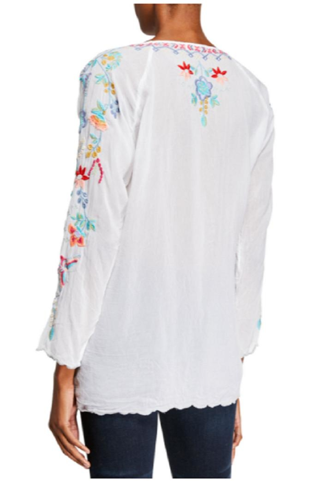 Johnny Was Nico Georgette Blouse - Front Full Image