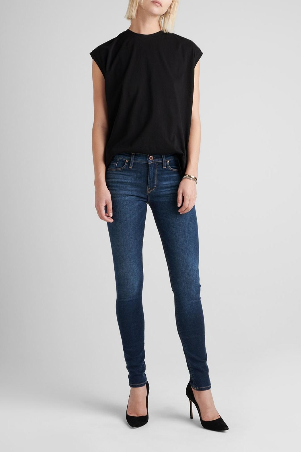 Hudson Jeans Nico Skinny Gower - Front Cropped Image
