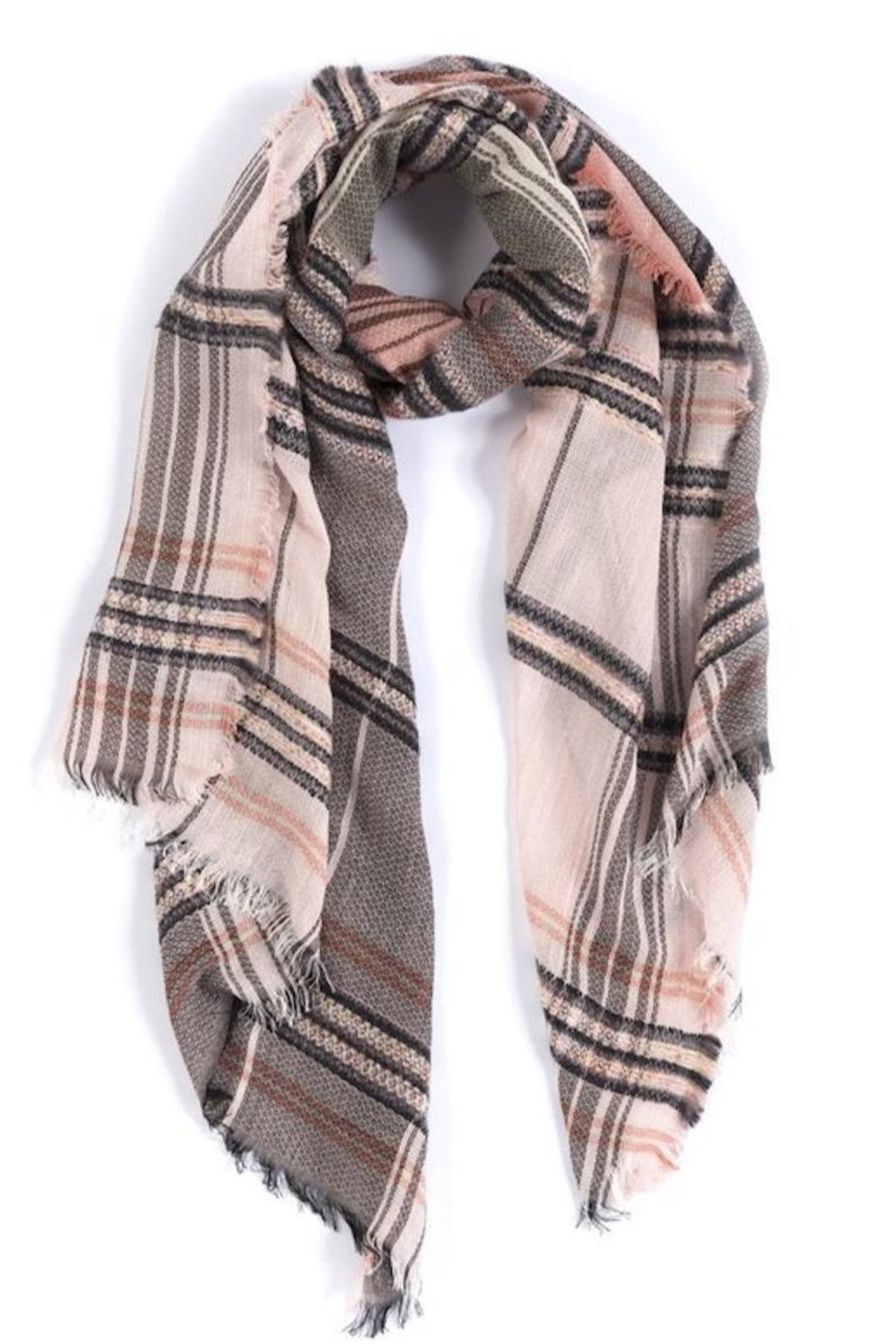 Shiraleah Nicola Plaid Scarf - Front Cropped Image