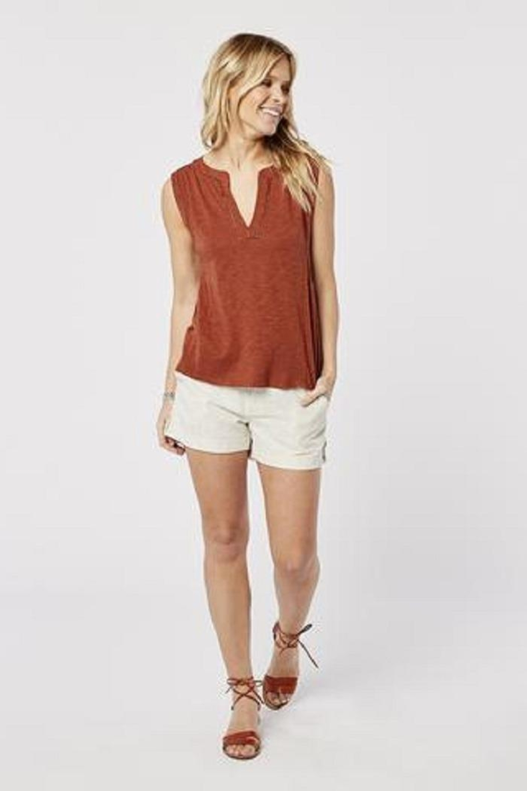 Carve Designs Nicole Cinnamon Top - Front Cropped Image