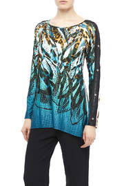 Nicole Max Blue Shimmer Top - Product Mini Image