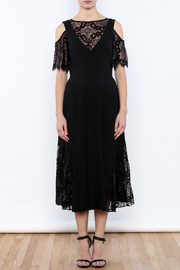 Nicole Miller Black Illusion Dress - Front cropped