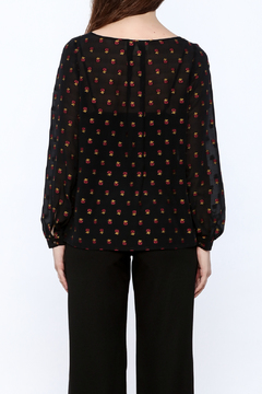 Nicole Miller Embroidered Cross Top - Alternate List Image