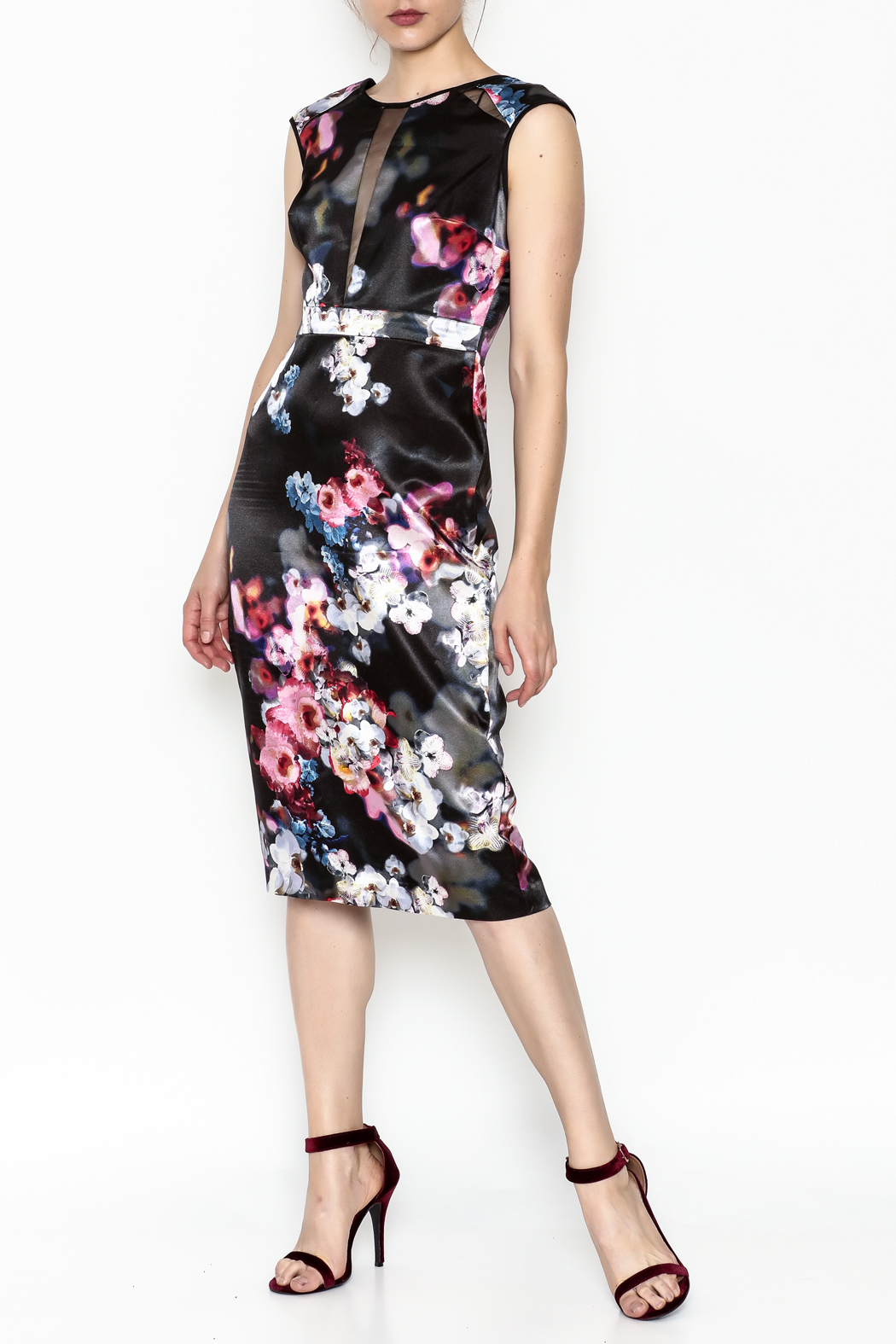 Nicole Miller Floral Dress - Front Cropped Image