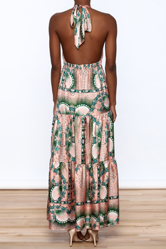 Nicole Miller Floral Silk Dress - Alternate List Image