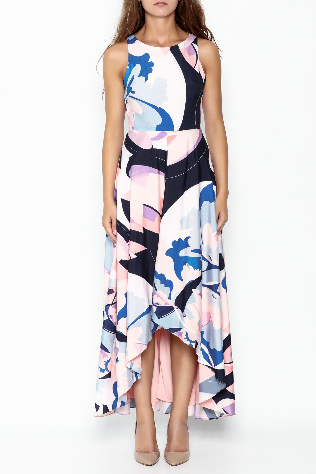 Nicole Miller High Low Maxi Dress - Front Full Image
