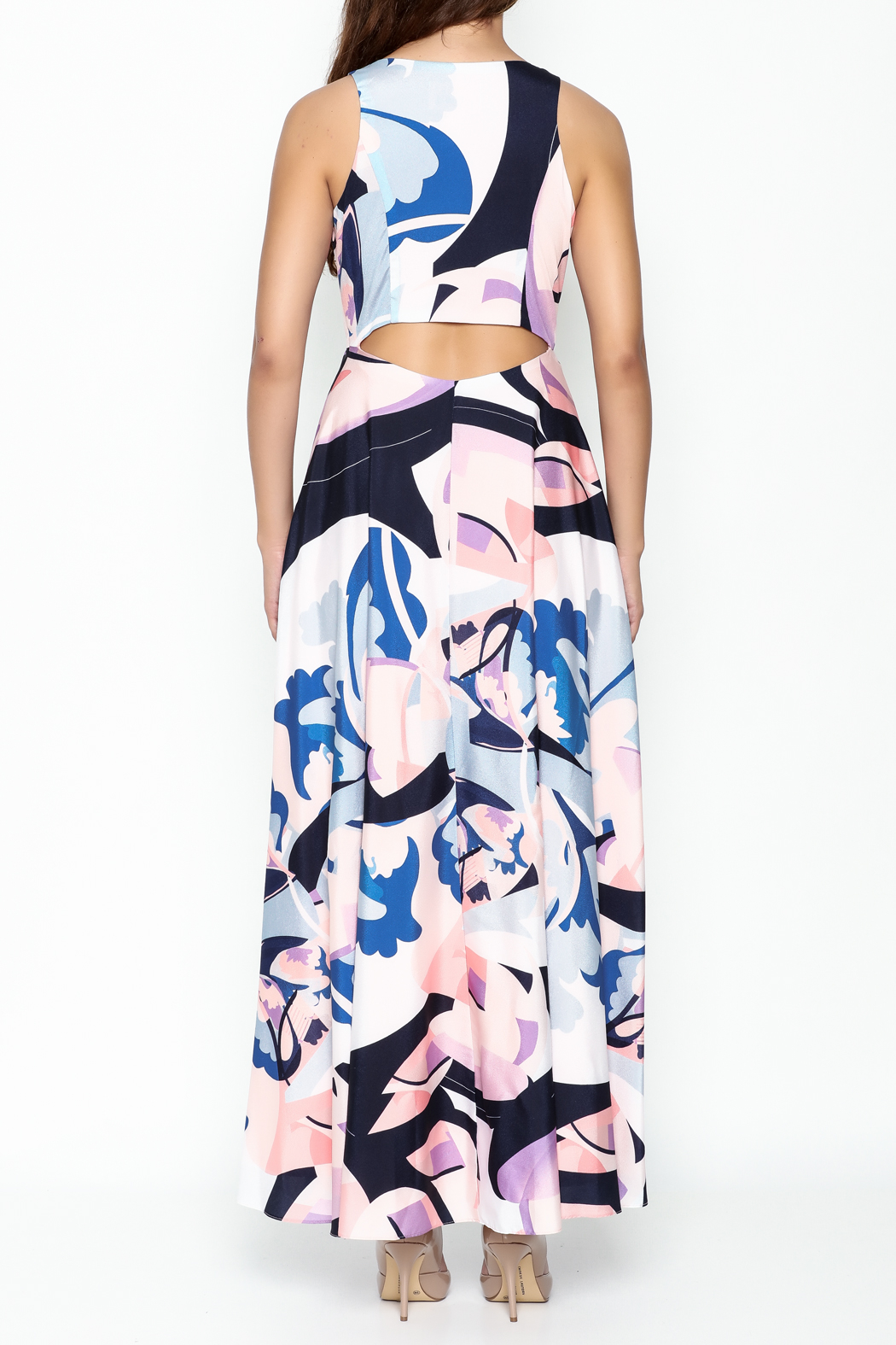 Nicole Miller High Low Maxi Dress - Back Cropped Image