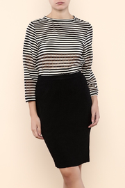 Nicole Miller Stripe Delphine Knit Top - Product Mini Image