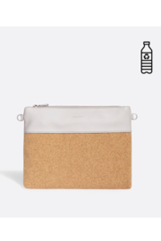 Pixie Mood Nicole Pouch Large – Cloud / Cork - Side cropped