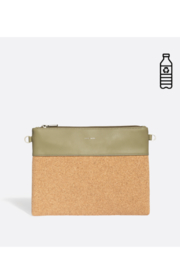 Pixie Mood Nicole Pouch Large – Sage / Cork - Front cropped