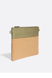 Pixie Mood Nicole Pouch Large – Sage / Cork - Side cropped