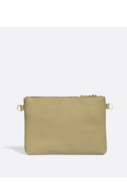 Pixie Mood Nicole Pouch Small – Sage / Cork - Front full body