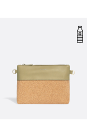 Pixie Mood Nicole Pouch Small – Sage / Cork - Front cropped