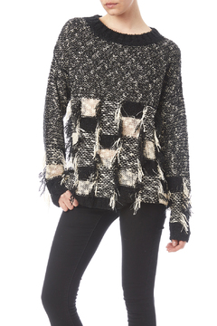 Shoptiques Product: Black White Pullover