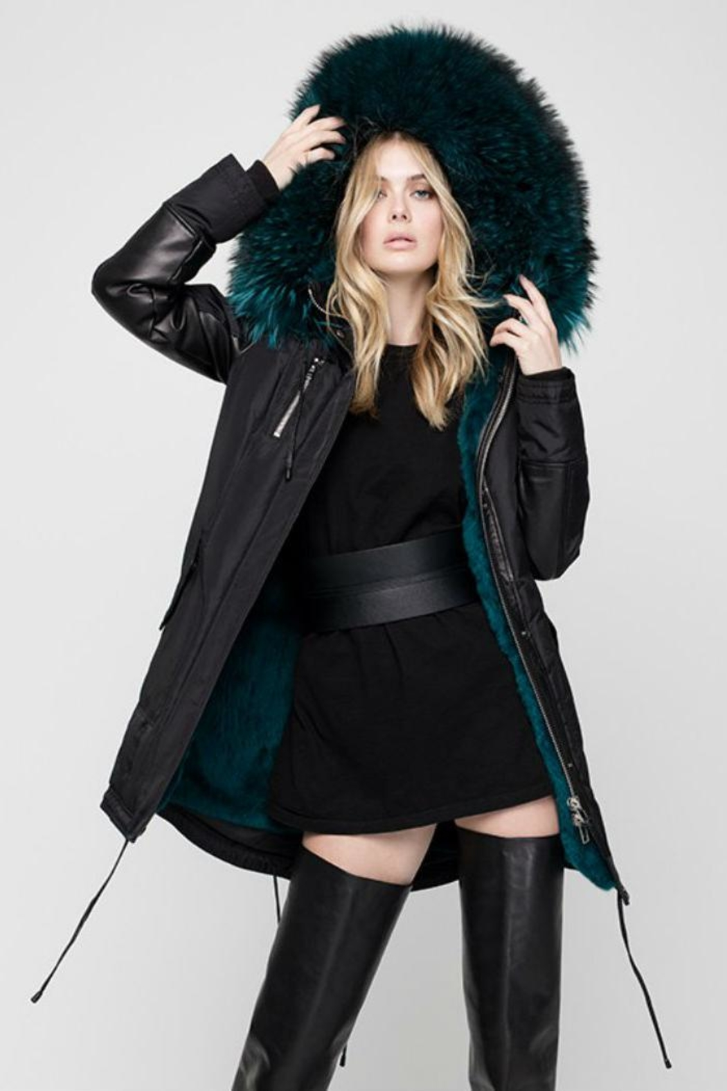Nicole Benisti Chelsea Fur-Lined Parka - Side Cropped Image