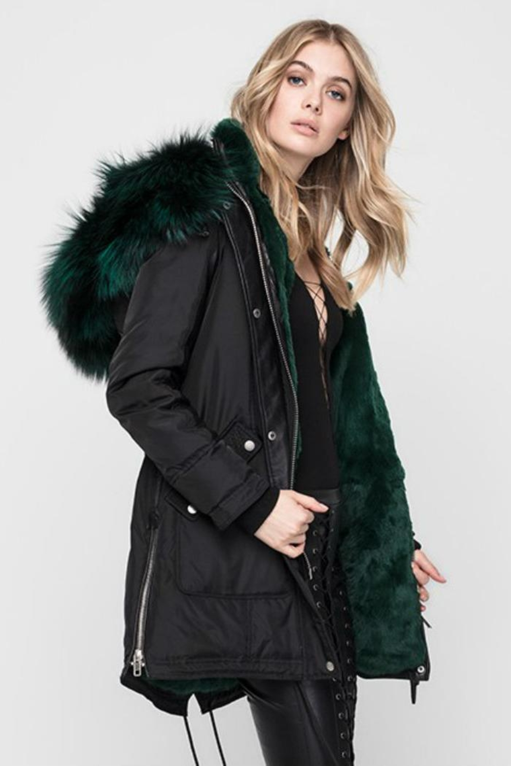 Nicole Benisti Chelsea Fur-Lined Parka - Front Full Image