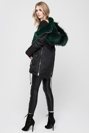 Nicole Benisti Chelsea Fur-Lined Parka - Back cropped