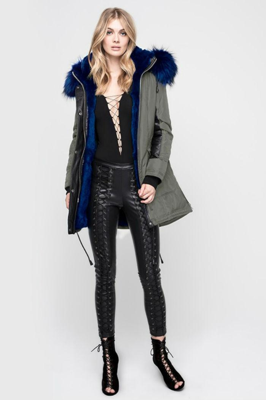 Nicole Benisti Chelsea Fur-Lined Parka - Front Cropped Image