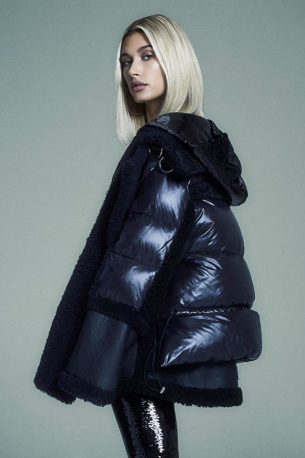 Nicole Benisti Montaigne Shearling Puffer - Side Cropped Image