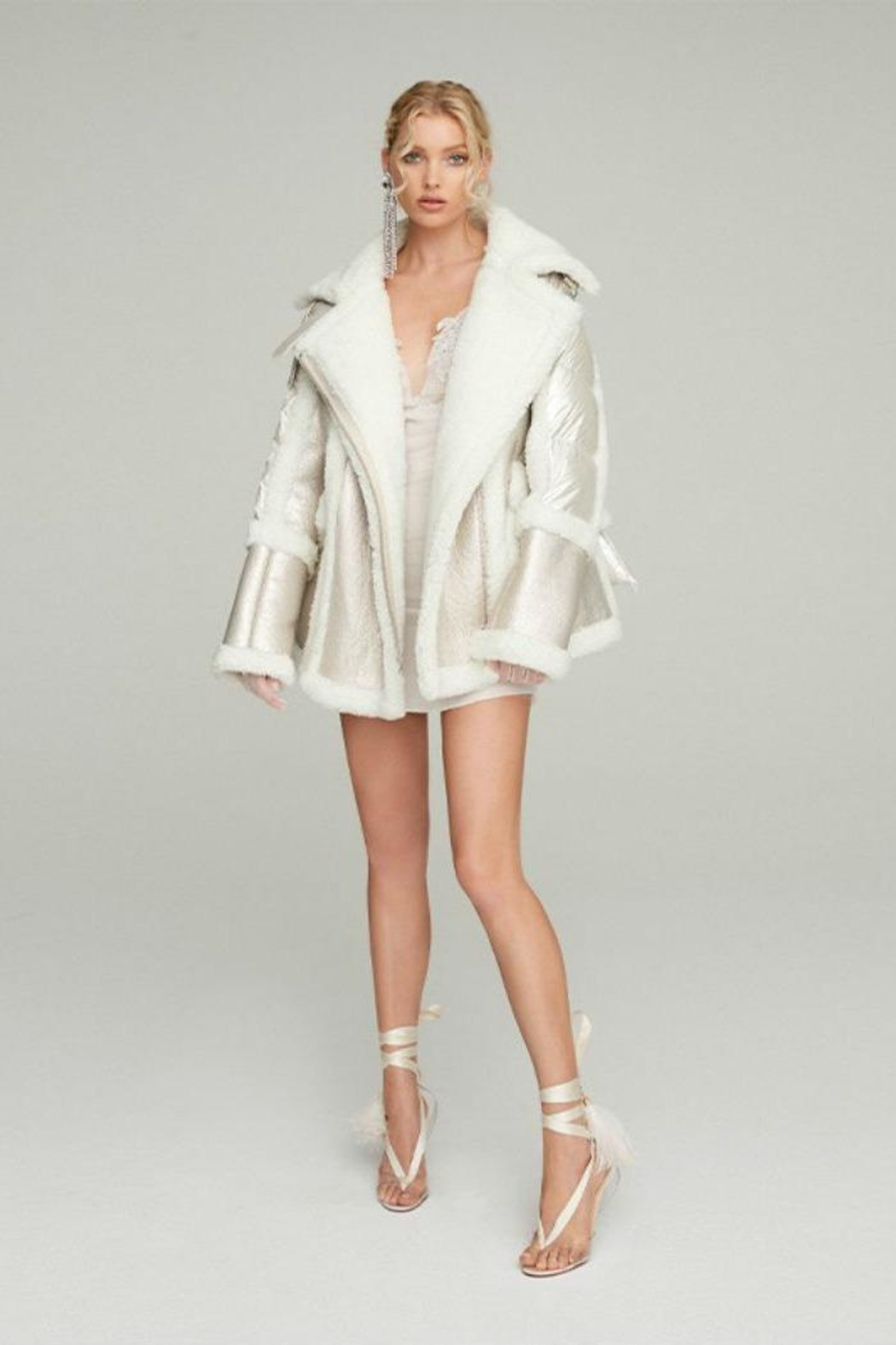 Nicole Benisti Montaigne Shearling Puffer - Front Cropped Image