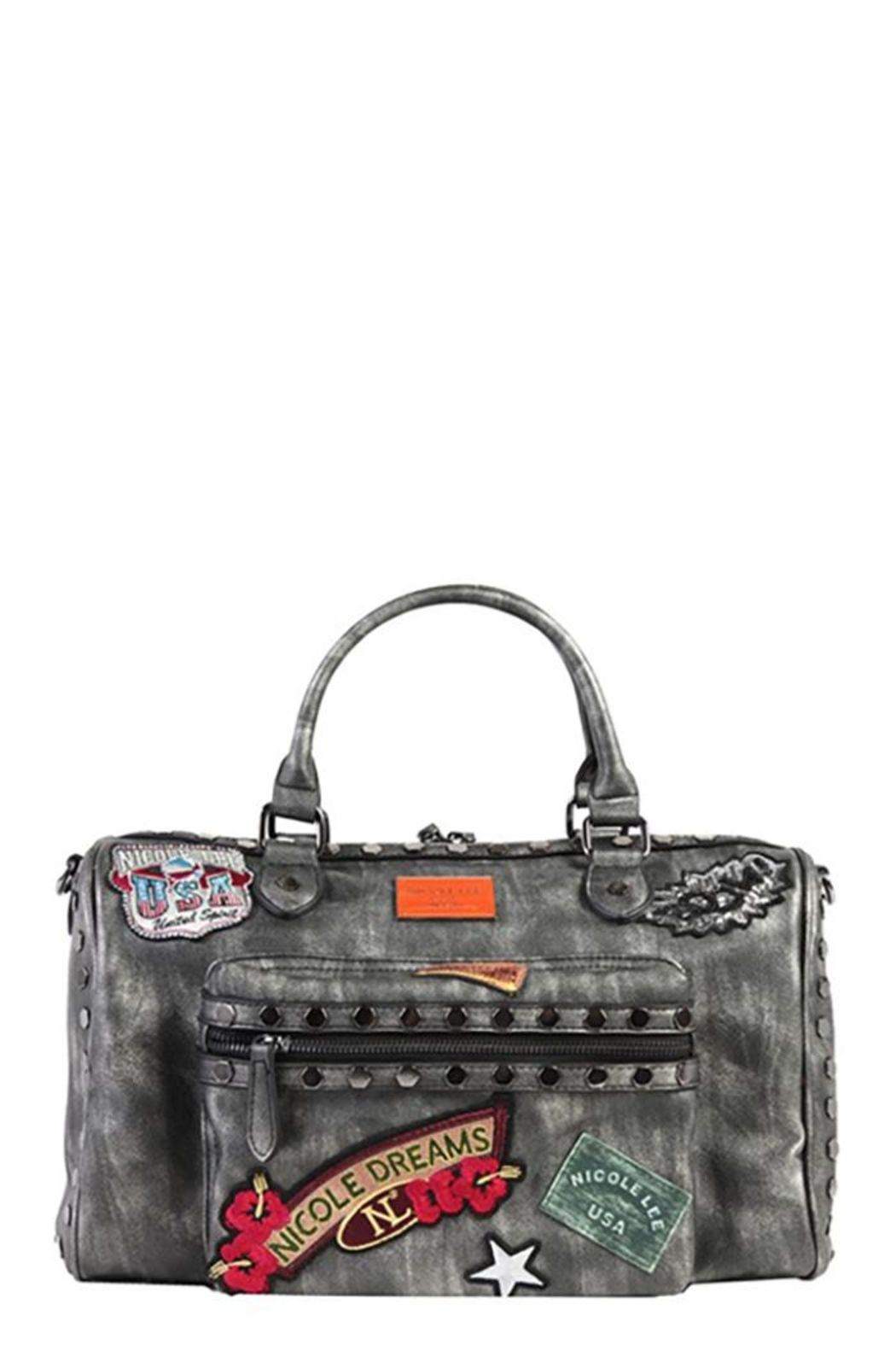 Nicole Lee Chrome Boston Bag - Front Cropped Image