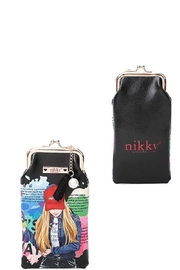 Nicole Lee Coin Purse Sun Glass Case - Front cropped