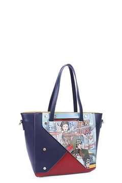 Nicole Lee Color Block New York Shopper Bag - Product List Image