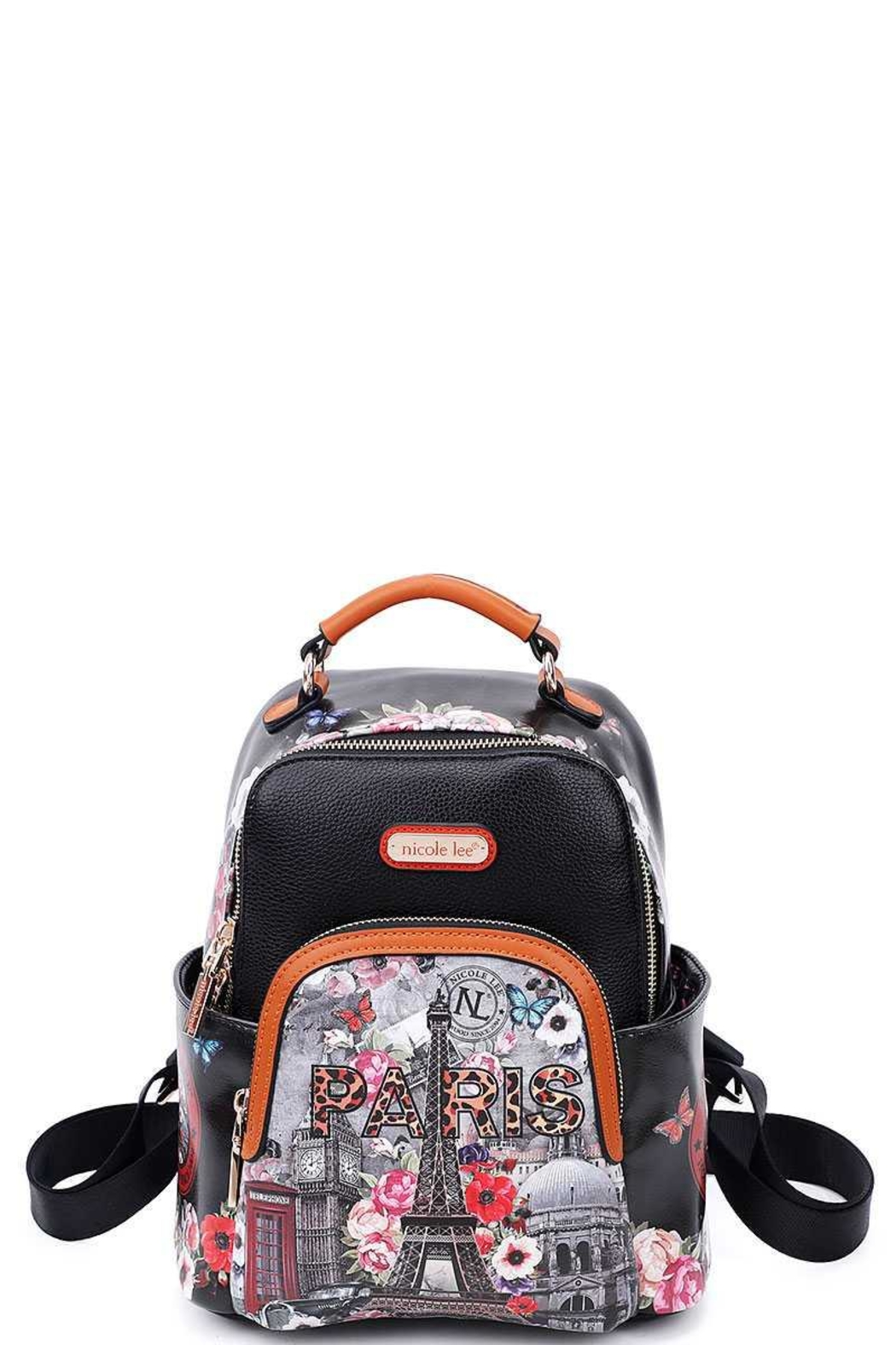 Nicole Lee Eiffel Tower Back Pack - Front Cropped Image