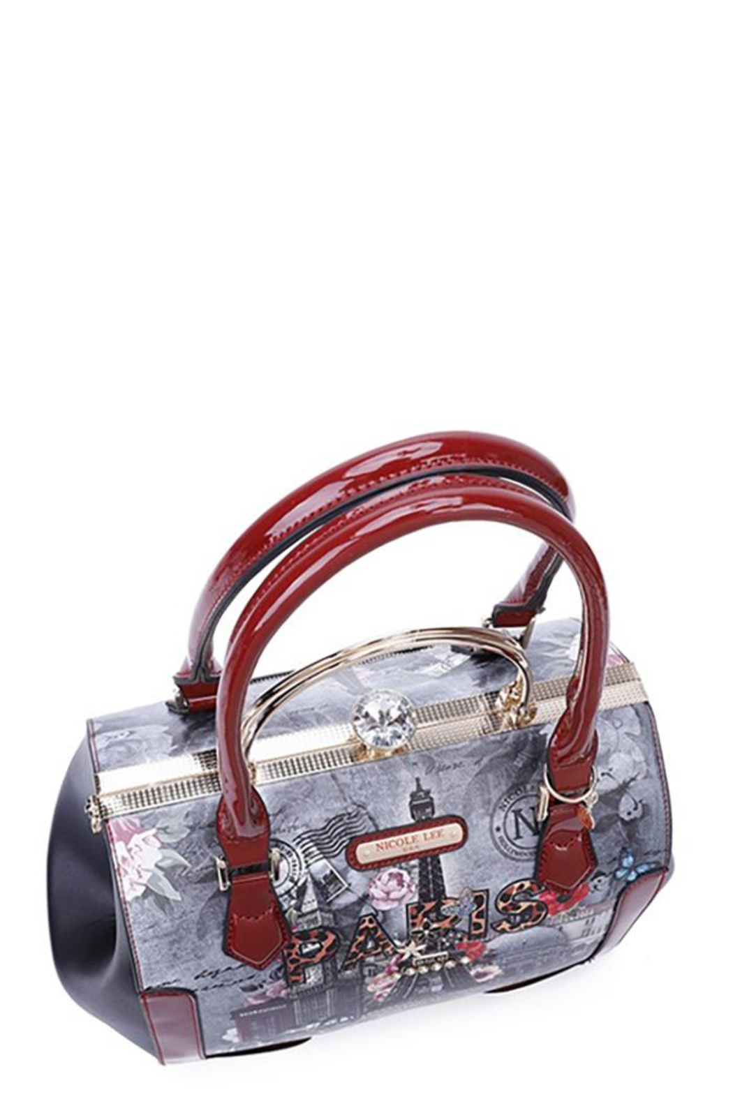 Nicole Lee Frame Collection Double Handle Bag - Front Full Image