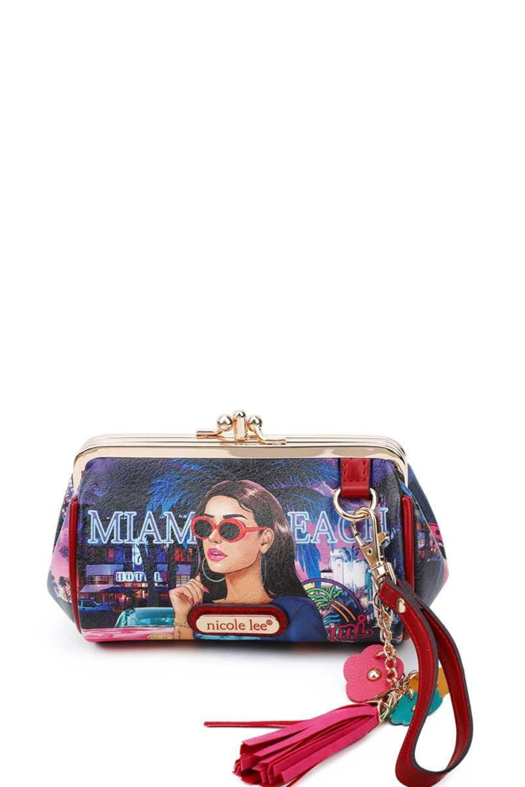 Nicole Lee Mini Purse With Wristlet - Front Cropped Image