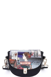 Nicole Lee Saddle Printed Crossbody Bag - Front cropped