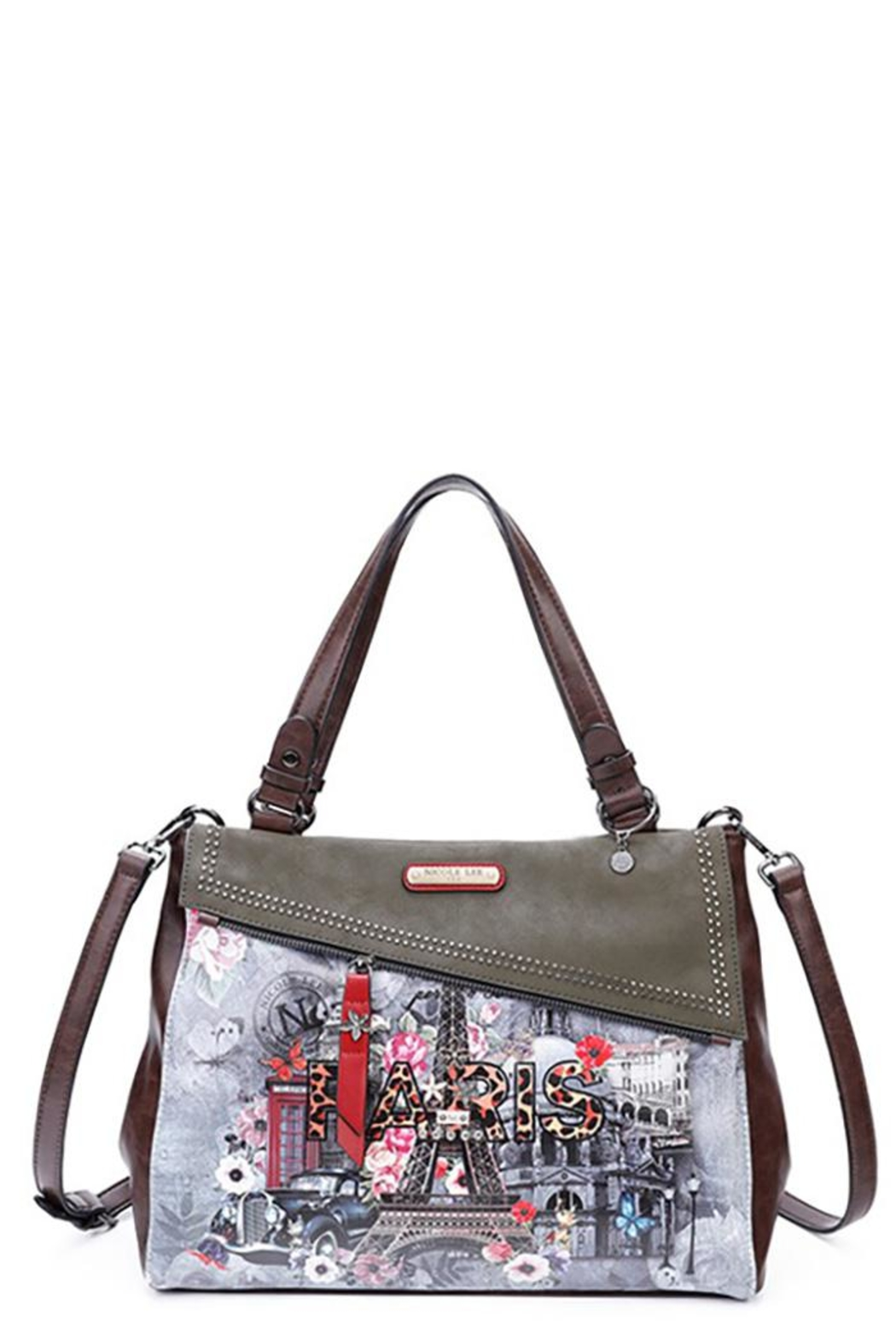Nicole Lee Paris In Fall Satchel Bag - Front Cropped Image