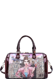 Nicole Lee Spain Print Boston Bag With Long Strap - Product Mini Image