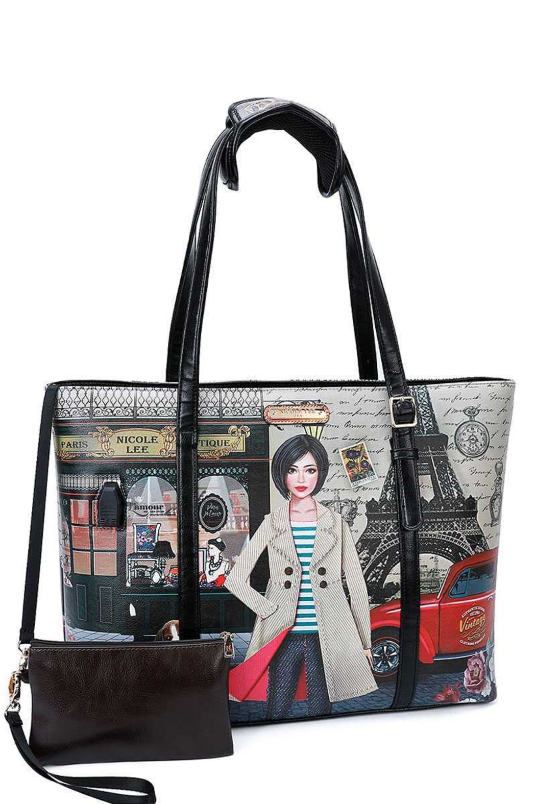 Nicole Lee Usb Charging Tote Bag - Front Cropped Image