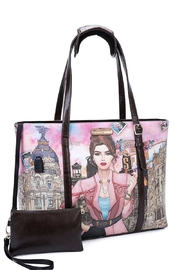 Nicole Lee Usb Charging Tote Bag - Front cropped